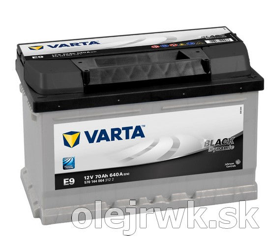 VARTA BLACK Dynamic E9 12V 70Ah
