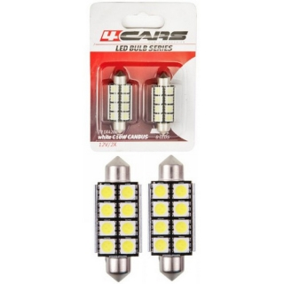 LED ŽIAROVKA 8LED 12V FESTOON CANBUS 5050SMD 42mm