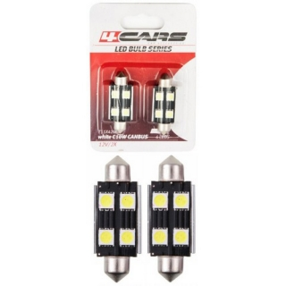 LED ŽIAROVKA 4LED 12V FESTOON CANBUS 5050SMD 42mm