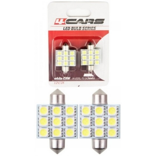 LED ŽIAROVKA 9LED 12V FESTOON 5050SMD 36mm