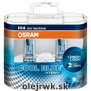 H4 OSRAM Cool Blue Intense 12V 60/55W Box 2ks