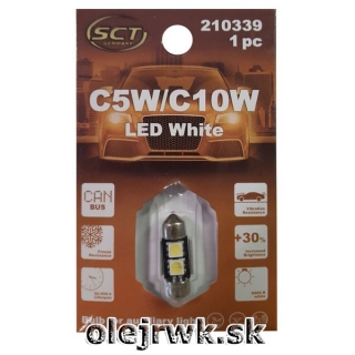 LED ŽIAROVKA C5W/C10W 31mm 2LED 12V CANBUS