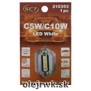 LED ŽIAROVKA C5W/C10W 39mm 4LED 12V CANBUS
