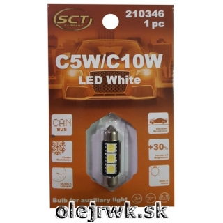 LED ŽIAROVKA C5W/C10W 36mm 3LED 12V CANBUS