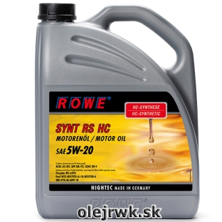 ROWE SYNT RS HC SAE 5W-20 5L