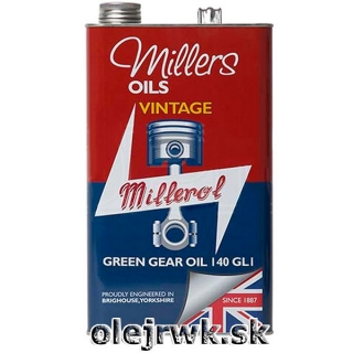 Millers Oils Green Gear Oil (VINTAGE) 140 5L