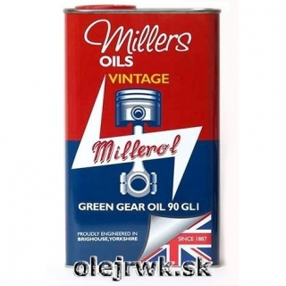 Millers Oils Green Gear Oil (VINTAGE) 90 1L