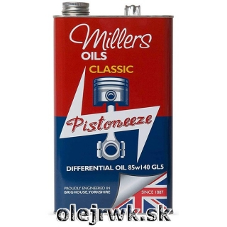 Millers Oils Classic Differential Oil (PISTONEEZE) 85W-140 5L